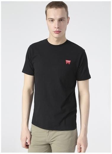 Wrangler Wrangler W7C07D301_Logo T-shirt  Siyah